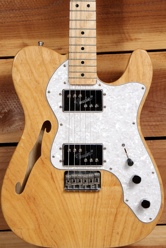 FENDER 72 TELECASTER DELUXE THINLINE Re-Issue Natural Semi-Hollow Tele 68742
