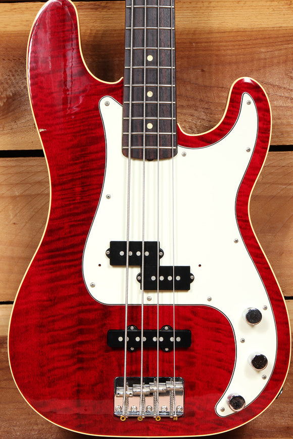 FENDER 2006 AERODYNE PRECISION BASS Flame Maple Top Red Foto FMT CIJ Japan 06768