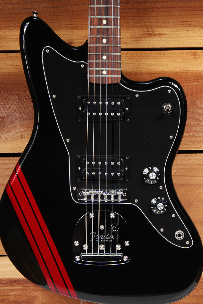 FENDER 2014 BLACKTOP JAZZMASTER HH GT COMPETITION STRIPE CLEAN! + Extras 72216