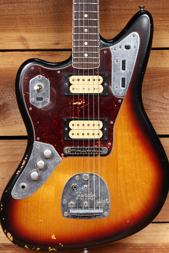 FENDER KURT COBAIN JAGUAR Lefty ROAD WORN + OHSC + Papers Left Handed 49842