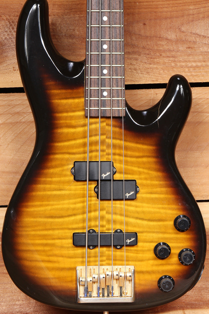 FENDER PRECISION P-BASS LYTE Active Flame Top MIJ Vintage 1994 sub-7 lbs 34740