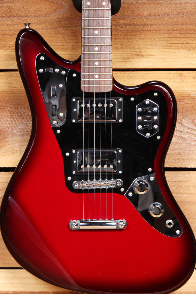 FENDER JAGUAR SPECIAL HH MIJ 1994 GUITAR MATCHED HEADSTOCK! Gunmetal Red 59051