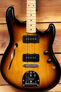 FENDER OFFSET SPECIAL Modern Player Rare! Sunburst Semi-Hollow FREE Ship! 13315