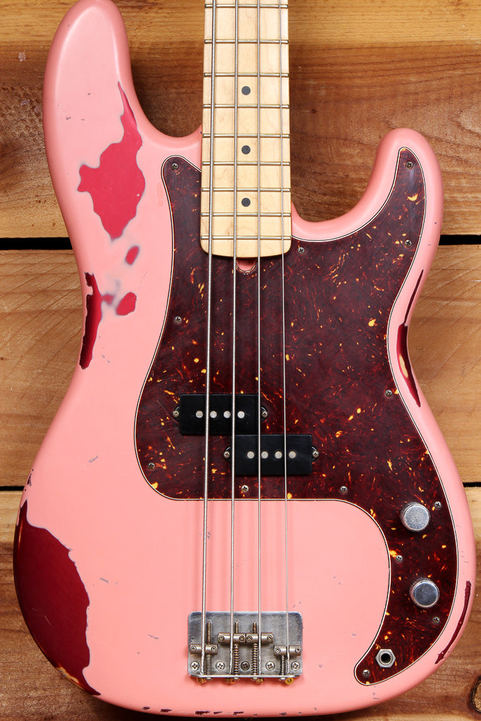 Fender Heavy RELIC 2010 American Special PRECISION BASS Shell Pink! Two-Tone USA P-Bass 42862