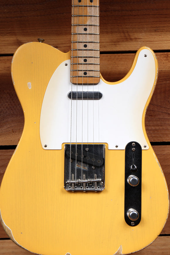 FENDER 2010 ROAD WORN 50s TELECASTER RARE! TV Yellow Best Tele Relic Around 1736