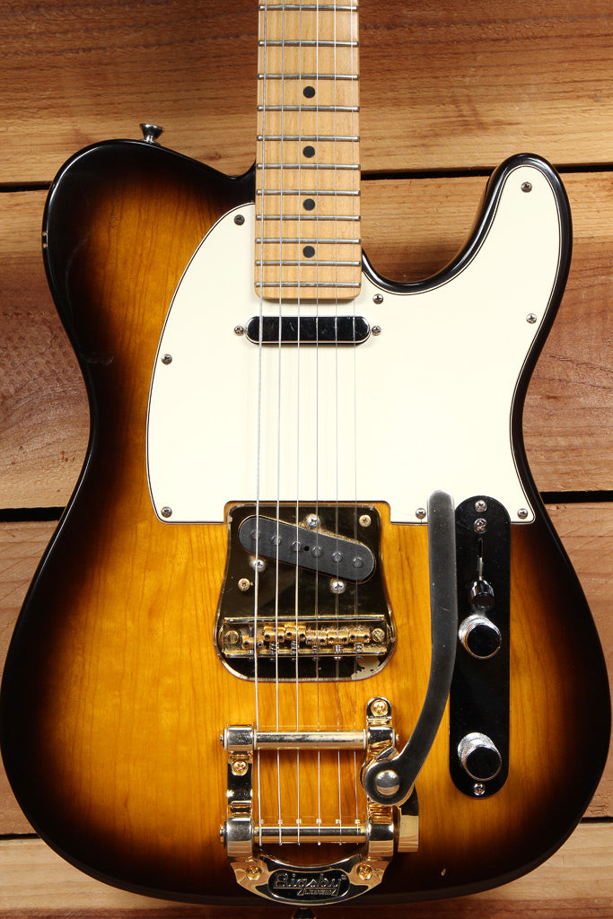 FENDER USA TELECASTER w/ BIGSBY! Tremolo Gold & Sunburst American Beauty 13415
