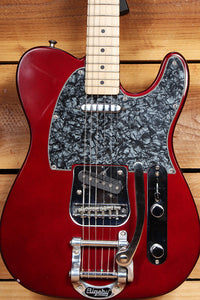 FENDER MIM TELECASTER BIGSBY Tremolo! Roller Nut Locking Sperzels Wine Red 70511