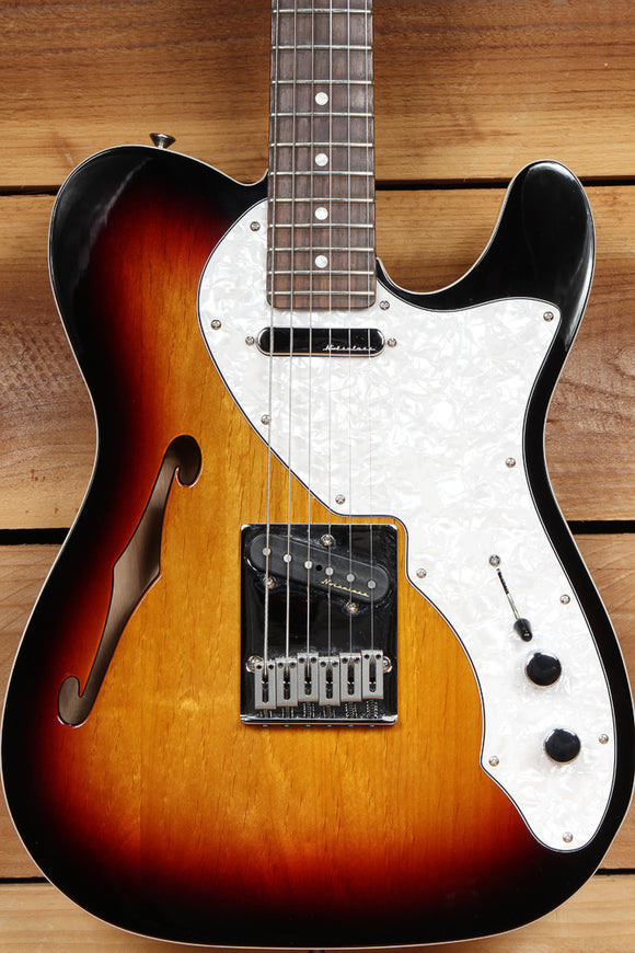 FENDER TELECASTER THINLINE DELUXE Clean! Noiseless PU Semi-Hollow Tele 65390