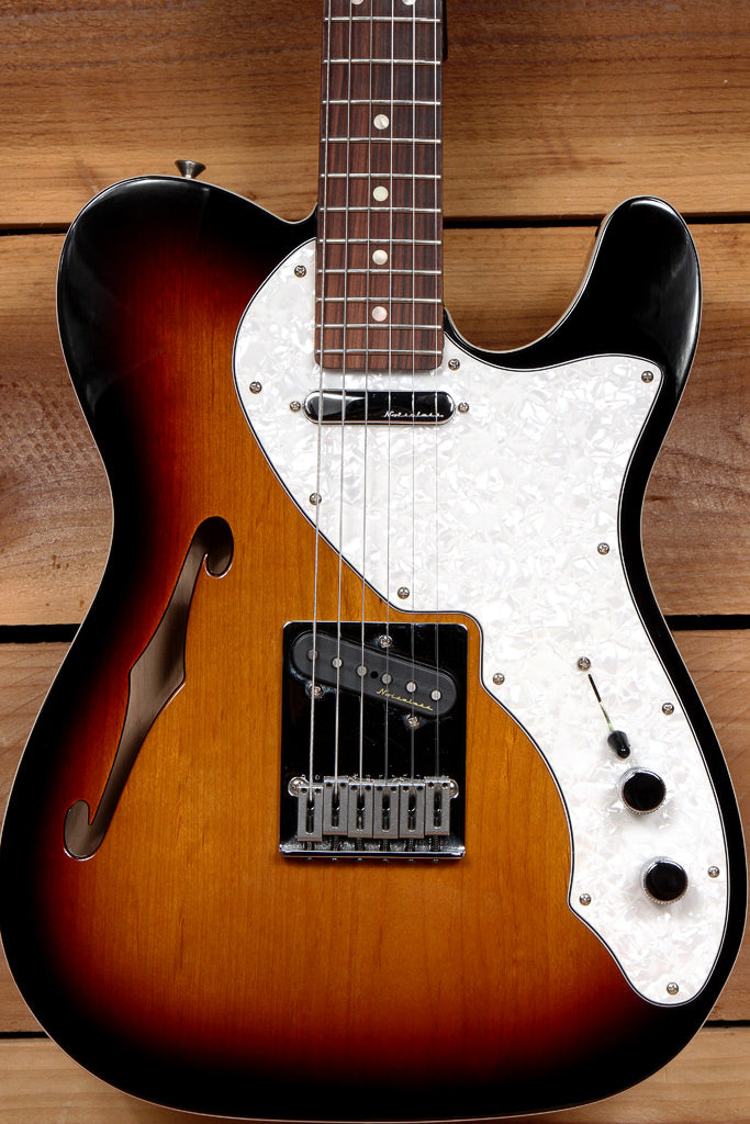 FENDER TELECASTER THINLINE DELUXE Clean! Noiseless PU Semi-Hollow Tele 98261