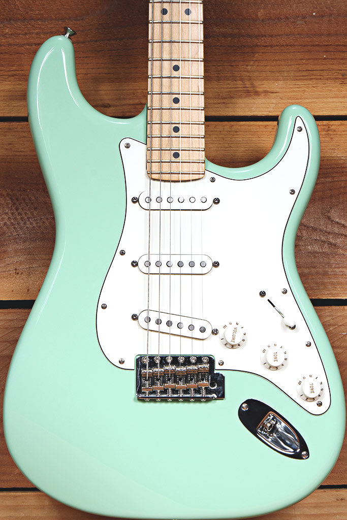 FENDER AMERICAN SPECIAL STRATOCASTER Surf Green FSR USA Locking Tuners 12885