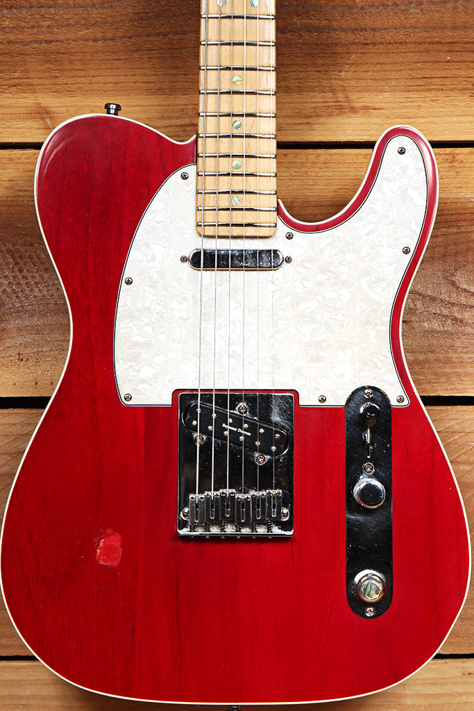 FENDER AMERICAN DELUXE TELECASTER Vintage 2000 USA Red Fret Level Duncan 67210