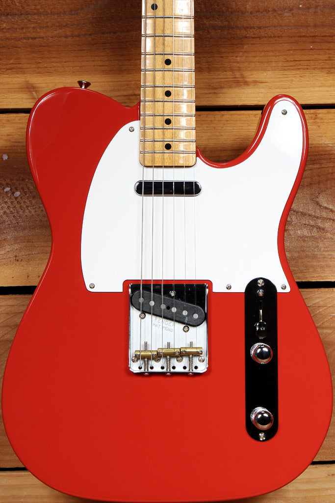 FENDER 2019 VINTERA 50s TELECASTER Fiesta Red Mint! + Bag & Papers Tele 59115