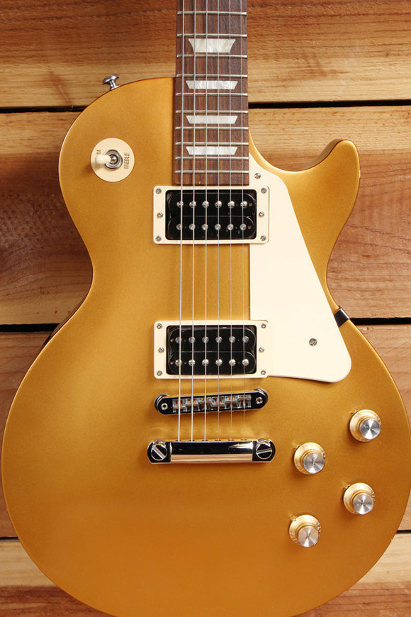 GIBSON 2016 LES PAUL 50s TRIBUTE T Goldtop Worn Satin Relic + Bag & Papers 1568