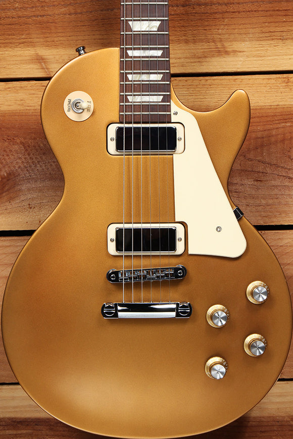 GIBSON LES PAUL STUDIO 70s TRIBUTE T SATIN Goldtop! Mini-HB Clean! + Bag 20496