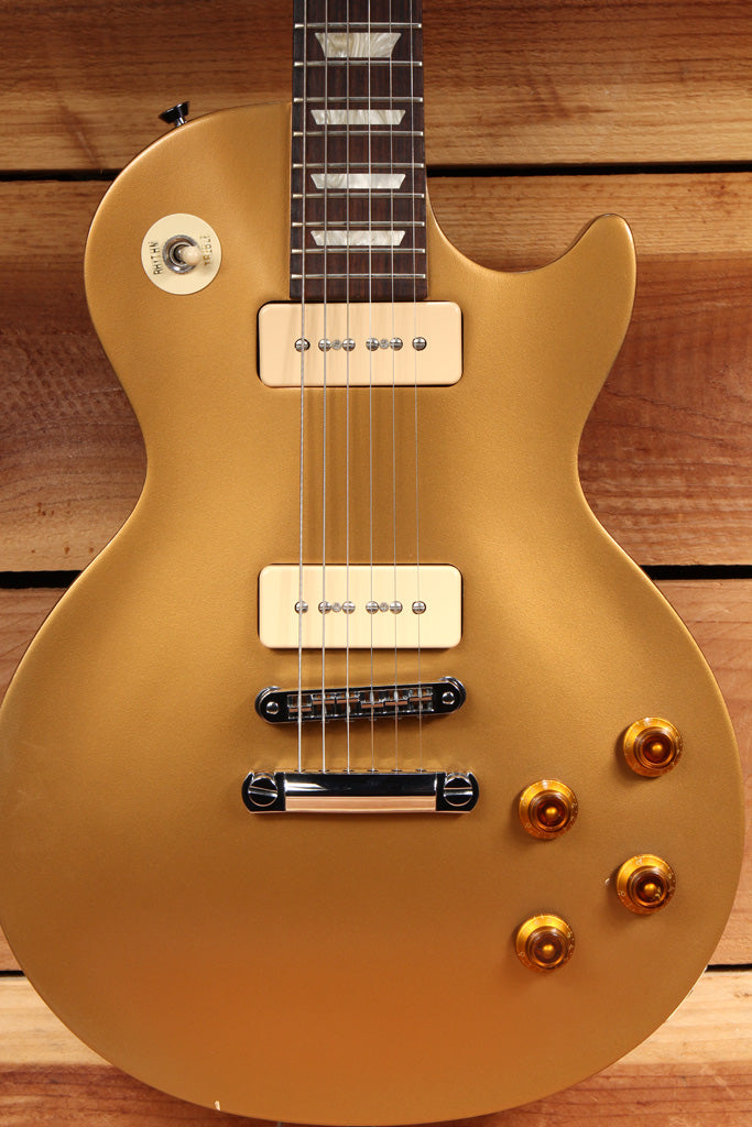 GIBSON 2013 LES PAUL 50s TRIBUTE T Goldtop Worn Satin Relic + Bag & Papers 1547