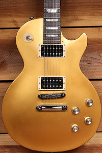 GIBSON 2016 LES PAUL 60s TRIBUTE T Goldtop Worn Satin USA Relic Gold Top 33040