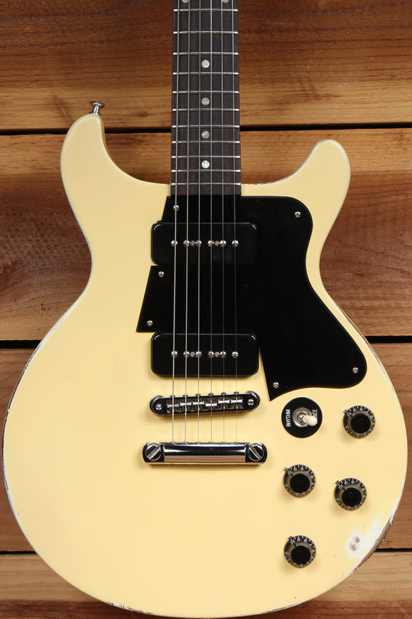 GIBSON LES PAUL Relic Special Double Cut Cutaway Faded Worn P90 TV Yellow 70462