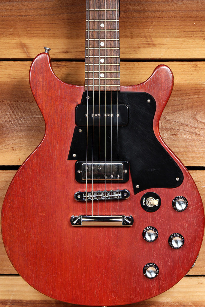 GIBSON 2005 Les Paul Double Cutaway Faded Cherry DC Cut Upgraded Pickup! 50334