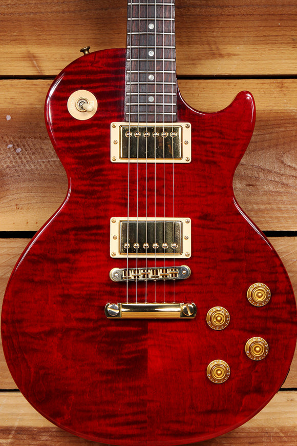 GIBSON 2001 LES PAUL JUNIOR Special Plus Red Flame Maple Top Clean! 31693