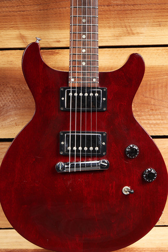 GIBSON Vintage 1997 LES PAUL STUDIO Special Red DOUBLE CUTAWAY Rare 24-Fret 7496