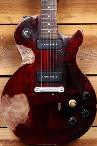 GIBSON LES PAUL Melody Maker Medium RELIC! +HSC Wine Red P90 USA Guitar 13158