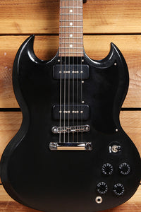 GIBSON SG SPECIAL 60s TRIBUTE Ltd Run 2012 Dual P90 PU Satin Worn Ebony 20642