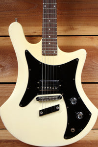 GUILD S60 Rare Vintage SOLID BODY Aged White Mahogany Orig Case + Manual 03430
