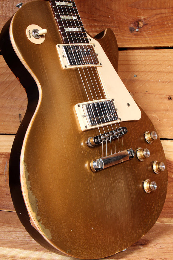 GIBSON LES PAUL 60s Tribute GoldTop Custom Road Worn Relic 490 PU Guitar 21490