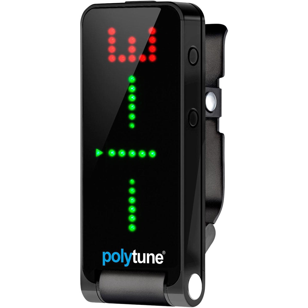 TC Electronic New POLYTUNE CLIP Polyphonic Clip-On Guitar Bass Tuner FREE SHIP!
