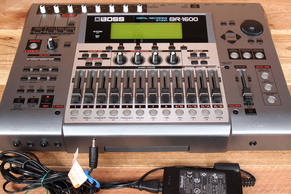 BOSS BR-1600 Portable 16-Track Digital HD Recorder V2 Clean! BR-1600CD 92319