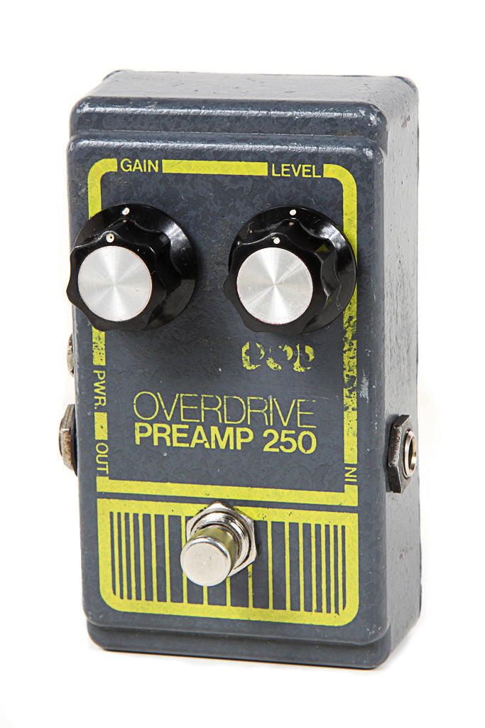 DOD VINTAGE 70s Overdrive Preamp 250 Guitar Distortion Fuzz Pedal Gray Box