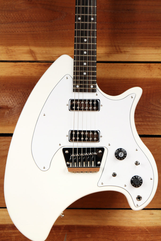 EASTWOOD BREADWINNER +OHSC White Ovation Vintage Style Electric Guitar Mint 0351