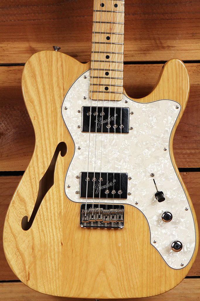 fender 72 telecaster deluxe thinline re issue natural semi hollow tele 3307 still kickin music. Black Bedroom Furniture Sets. Home Design Ideas