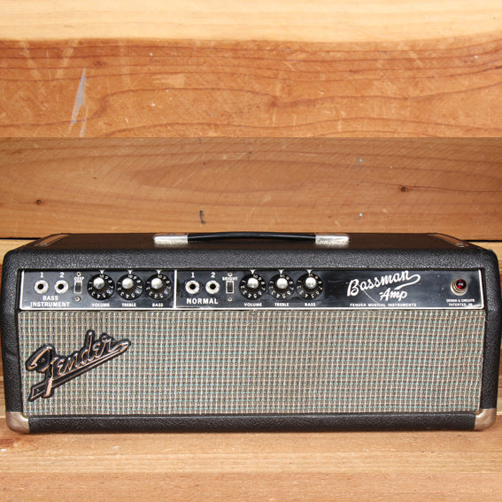 FENDER BASSMAN 1965 Blackface Head NICE Condition! 60s Amp AA165