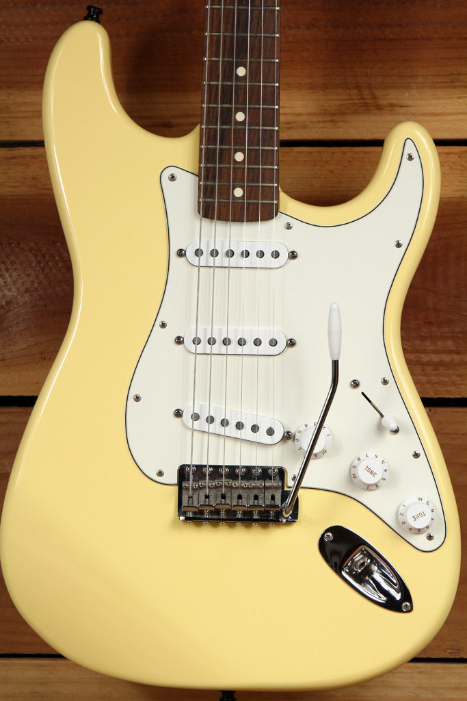 FENDER 1997 CALIFORNIA SERIES USA STRATOCASTER Yellow Near Mint Strat HSC 0215