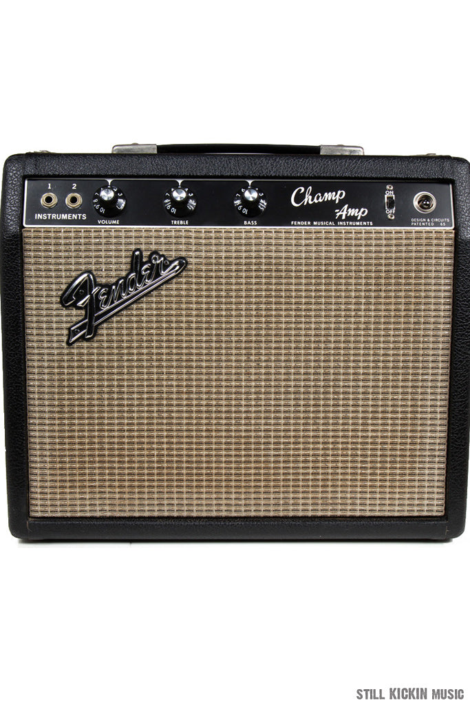 Fender FENDER 60s Vintage BLACKFACE CHAMP AMP Clean! Upgraded Weber Speaker + Original