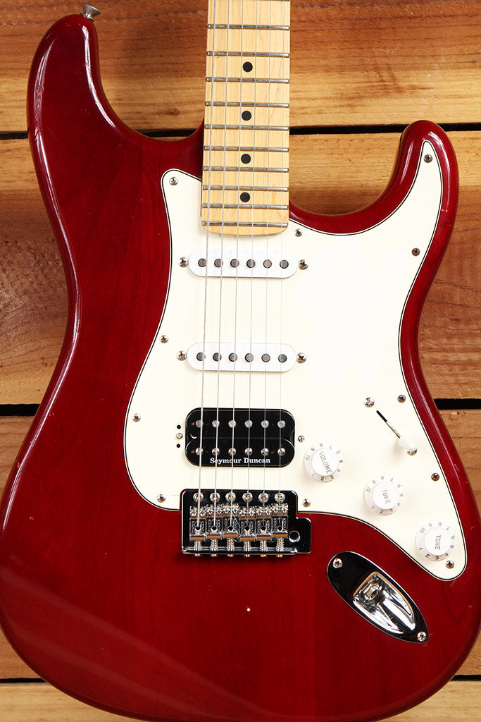 FENDER HIGHWAY ONE 1 STRATOCASTER HSS USA NITRO AMERICAN RED STRAT MIA 6870