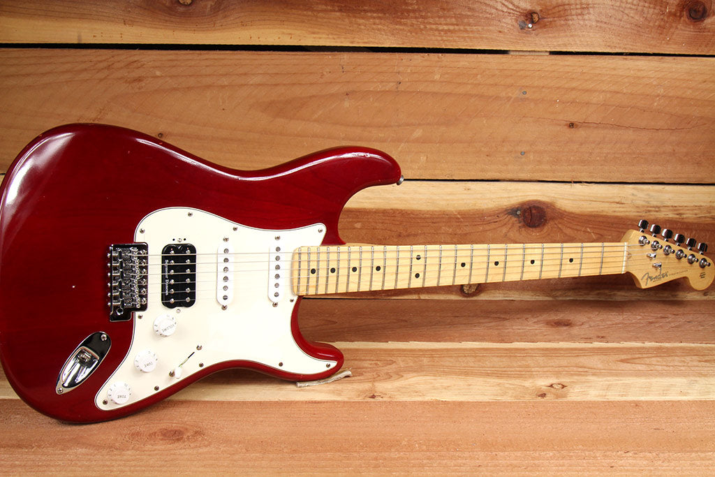 fender highway one 1 stratocaster hss usa nitro american red strat mia still kickin music. Black Bedroom Furniture Sets. Home Design Ideas