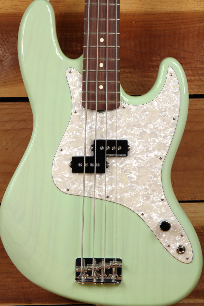 Fender Mark Hoppus Precision P-Bass MINT! Transparent Surf Green Jazz 3819
