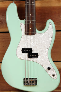 FENDER MARK HOPPUS Seafoam Green JAZZ BASS Early 2001 PRECISION PU Clean! 4598