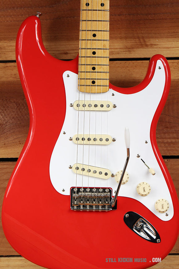 FENDER 2015 CLASSIC SERIES 50s STRATOCASTER Tweed HSC Fiesta Red Nice Strat 5881