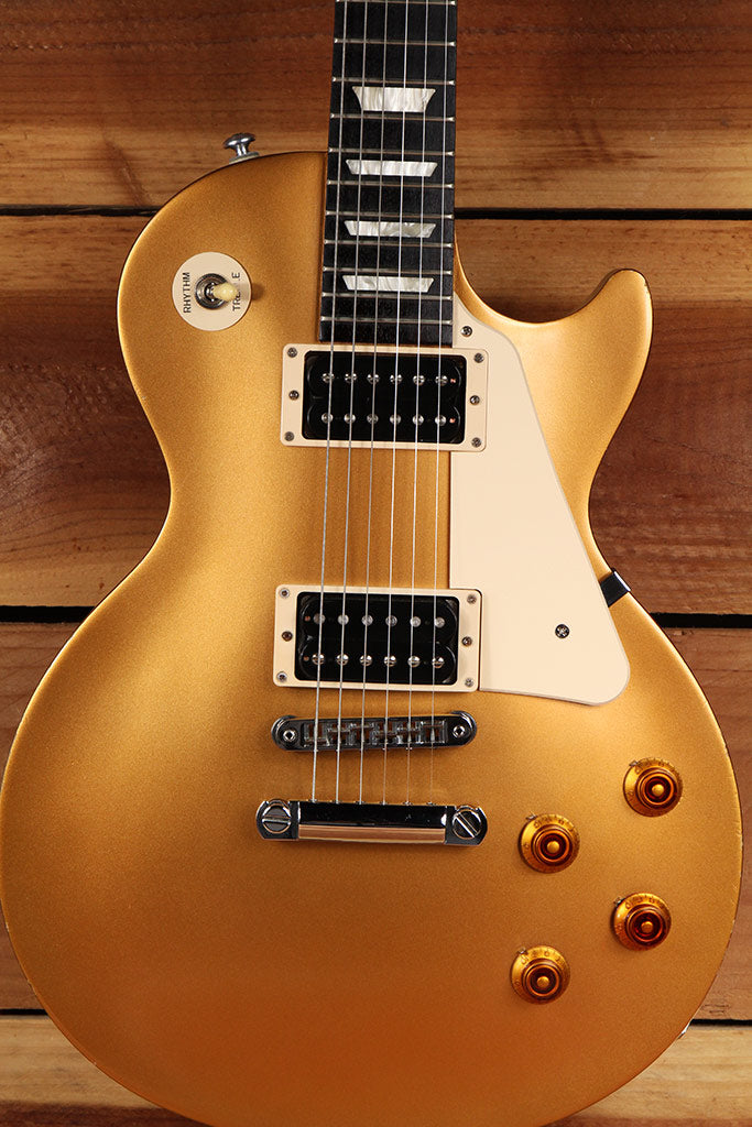 2016 GIBSON LES PAUL 50s TRIBUTE T GOLDTOP Gold Top Worn Satin Relic + Gift 2437