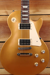 GIBSON 2016 LES PAUL 50s TRIBUTE T GOLDTOP LP Gold Top Satin Nice! + Bag 7012