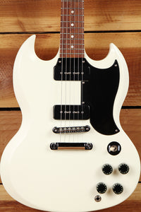 GIBSON SG SPECIAL 60s TRIBUTE Limited Run 2012 Dual P90 PU Satin Worn White + Bag 0637