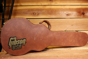GIBSON Vintage Shroud LES PAUL HARD SHELL Guitar CASE Brown Factory TKL Pink Fur