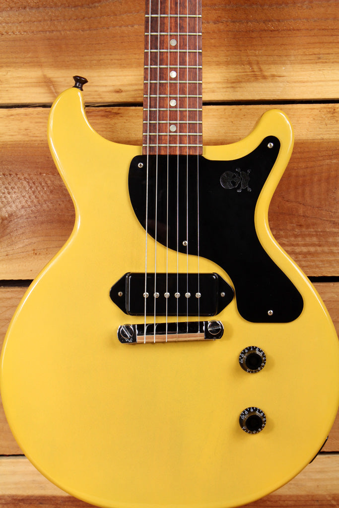 GIBSON BILLIE JOE LES PAUL JUNIOR Jr DOUBLE CUTAWAY TV Yellow DC CUT P90s 0698