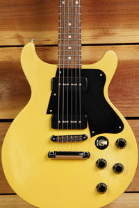 GIBSON LES PAUL SPECIAL Double Cutaway Cut TV Yellow Faded Worn Relic P90 3393