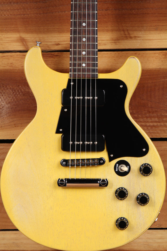 GIBSON LES PAUL SPECIAL Double Cutaway Cut TV Yellow Faded Worn Relic P90 3683