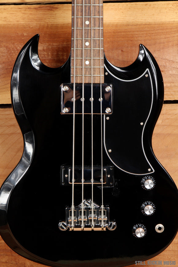 GIBSON SG BASS + OHSC 2007 BLACK/BLACK SHORT SCALE 4-STRING 7.5 Pound Axe 1326
