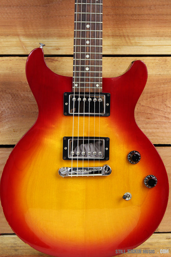 GIBSON 1997 LES PAUL DELUXE STUDIO DOUBLE CUTAWAY Cherry Sunburst DC Cut USA 329